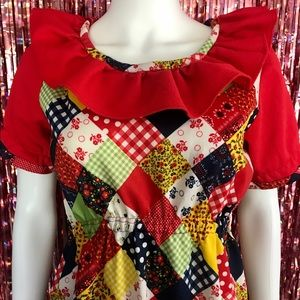 VTG Handmade Raggedy Ann Style Dress
